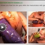 Extreme Scat Masturbation With Isabelle