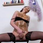 Shitting and masturbation from sexy woman