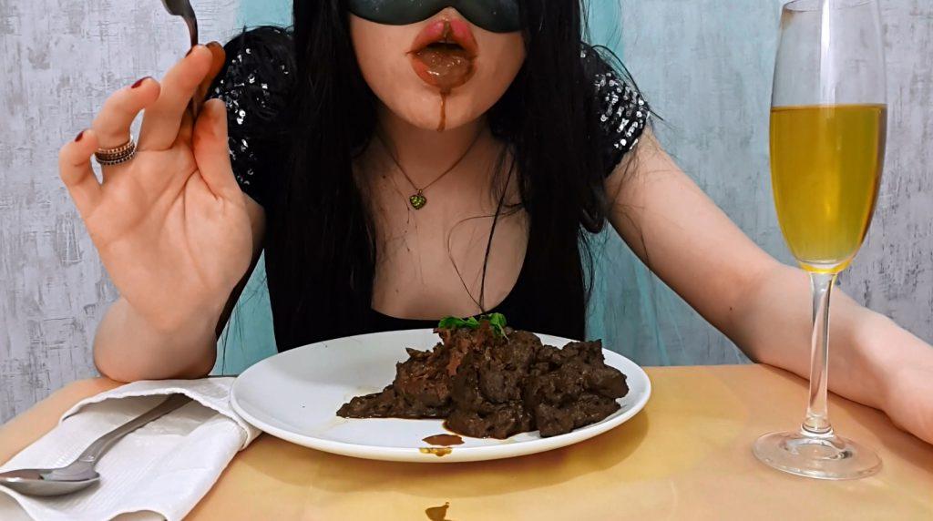 Anna's Private Dinner - PART 2 (Anna Coprofield in Full HD 1080p) - 2