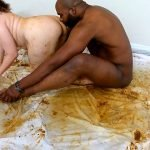 Scat Goddess Amanda – shitting on black dick and masturbates dirty pussy (FULL HD 1080p)