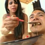 Scat Boy Real Swallow – By Muscle Girl (Maynna Lima and scat slave Zica)