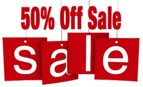 50 % OFF Sale