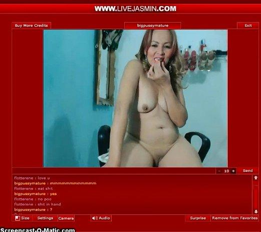 Livejasmin.com - Sexy Mature Scat Loving Lady Show 4