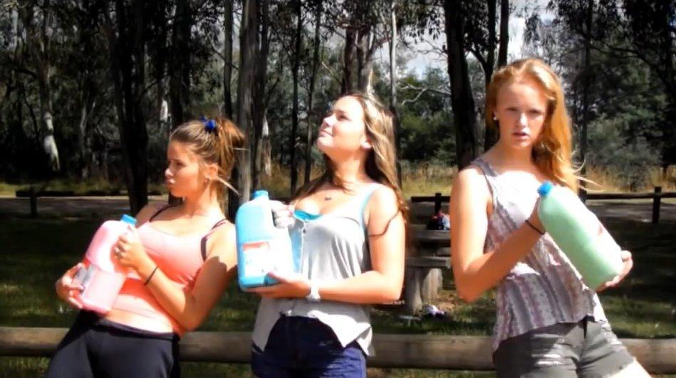 3 litre milk challenge by da teen girls - Picture 1