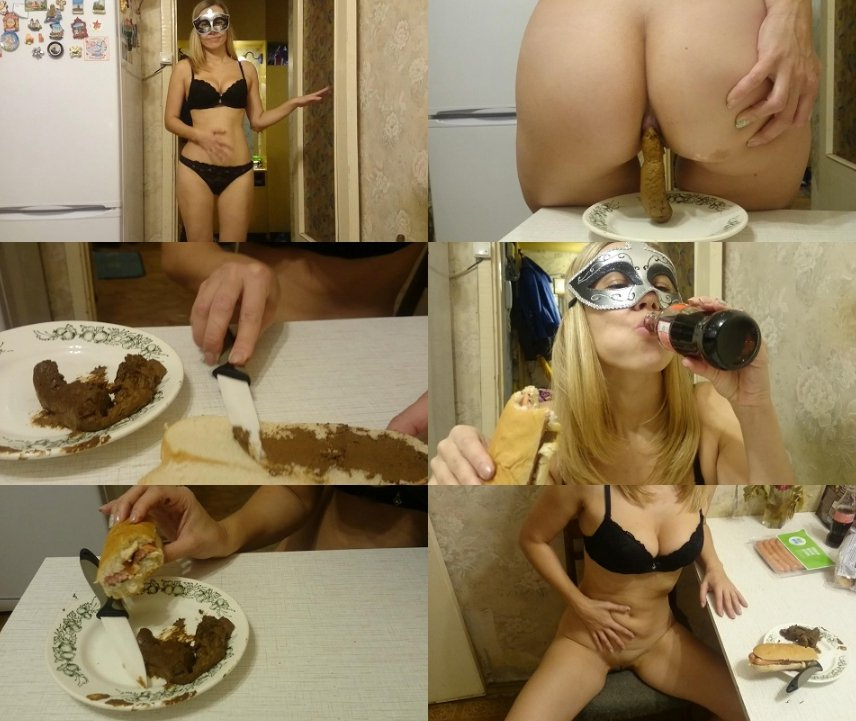 Brown wife - Hotdog with shit is delicious food