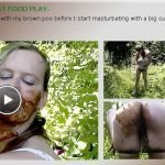 Extreme Outdoor Scat Food Play (Shit Loving Anastasia)
