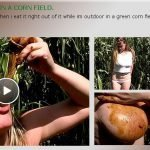 Extreme Scat Eating In A corn field (Shit Loving Anastasia)