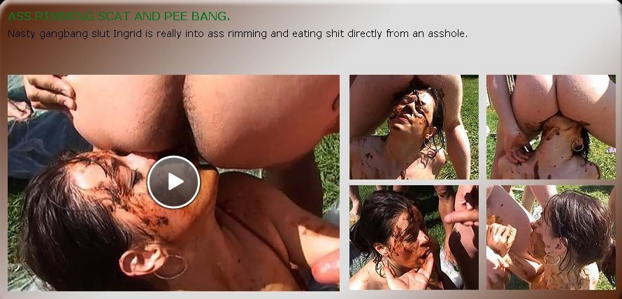 Ass rimming scat and pee gangbang