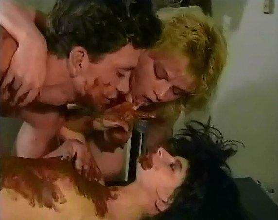threesome scat orgy