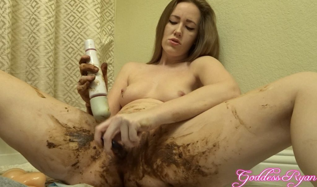 Goddess Ryan - Fecal lybricant for masturbation dirty pussy (HD 1080p)