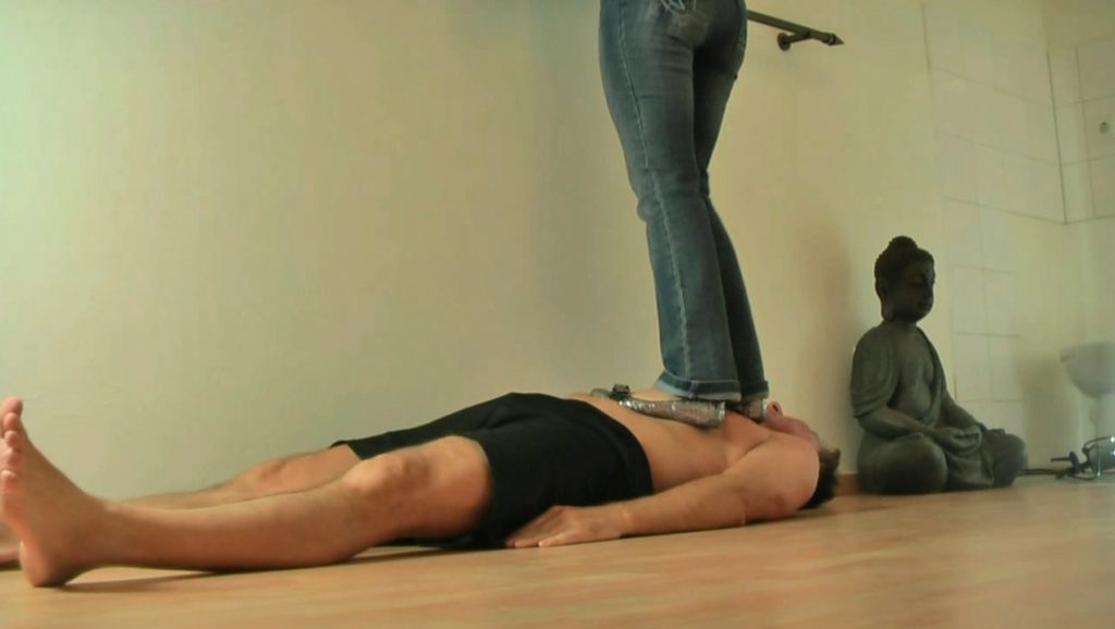 Lady Lina - the shit saleswoman (Trampling and Femdom Scat)
