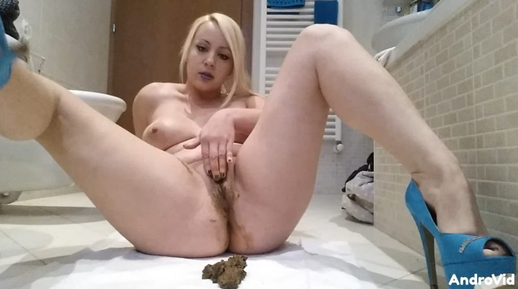 Goddess Jasmine - dirty scat play in bathroom - 3
