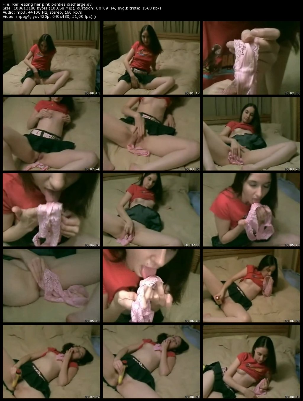 Amateur panty discharge eating 4
