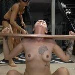 Mistress Gaia shitting in mouth slavegirl in bondage - Full HD 1080p