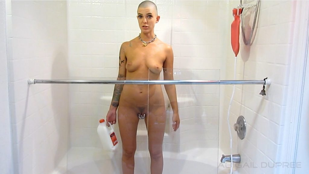 Abigail Dupree - Multiple Inverted Milk and Water Enemas Parts 1, 2 - 1