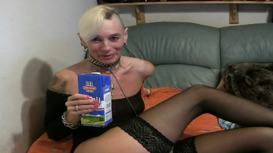 Drinking milk then and puking all over her face - Special FHD Porn (1080p)