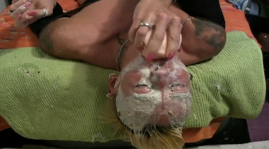 Drinking milk then and puking all over her face - Special FHD Porn (1080p)-5