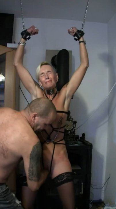 Getting spanked, fisted and beaten while cuffed (Lady-isabell666) - 6