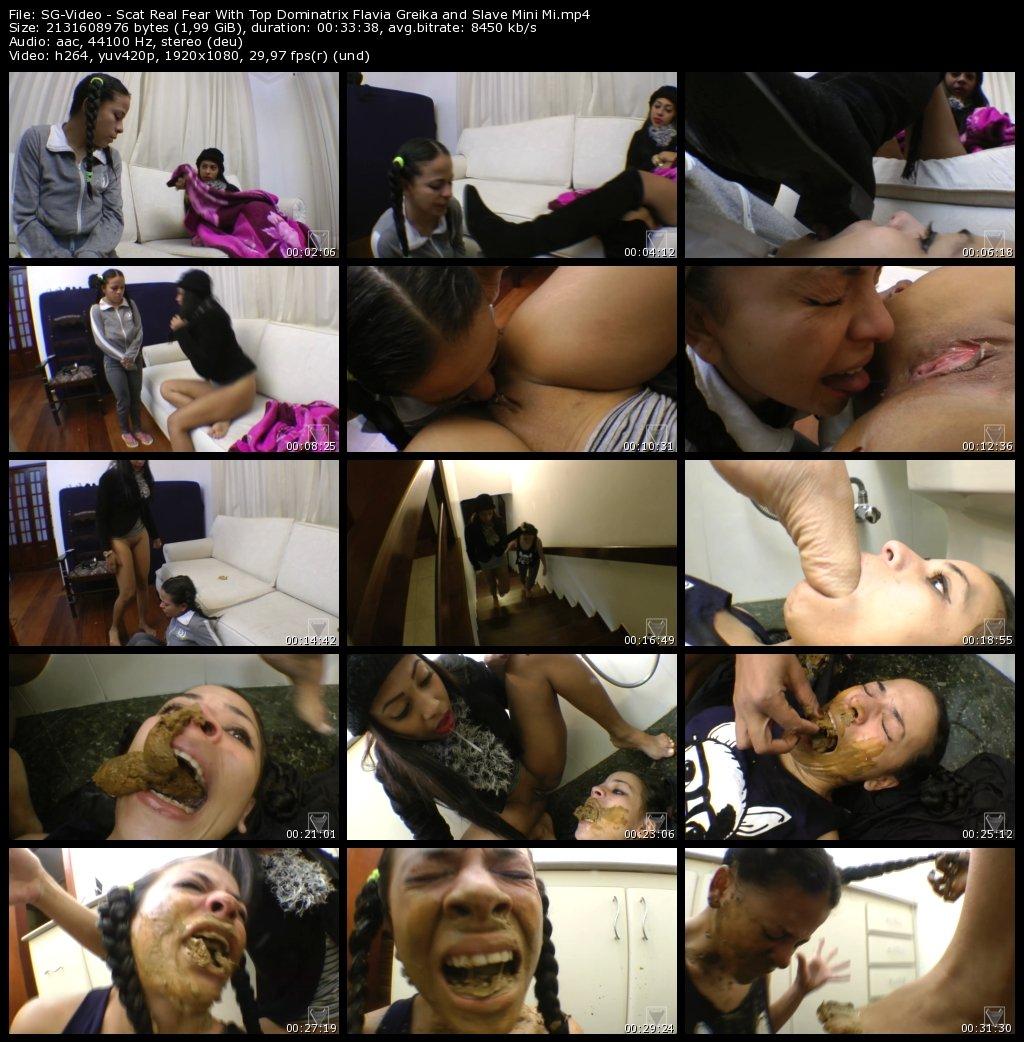 Scat Real Fear With Top Dominatrix Flavia Greika and Slave Mini Mi (Scat lesbian porn)
