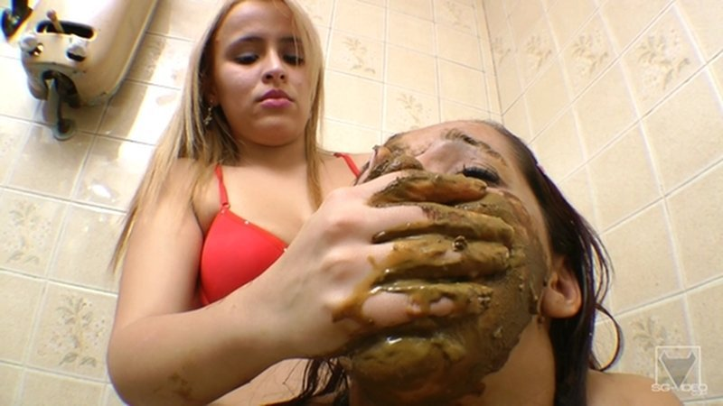 SG-Video Scat Toilette Fight By Anny Portilla (Lesbian Scat Domination, Smearing and Scat Torments)