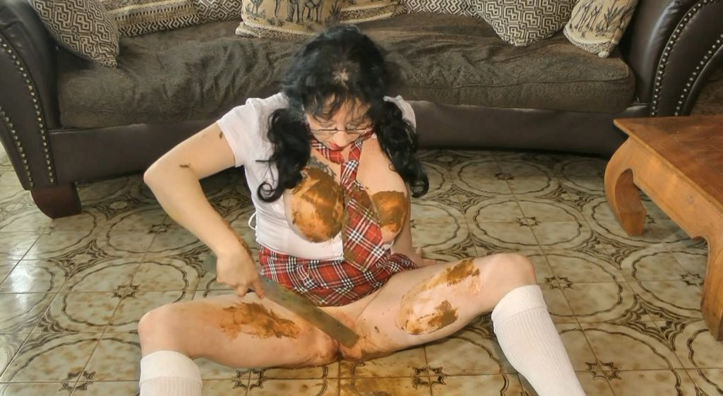 Dirty Schoolgirl Humiliation During her Period - ChienneMary - HD 720p (Scat, Period Play) - 6