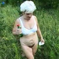 Granny shitting outdoor (Outdoor Scat Porn)