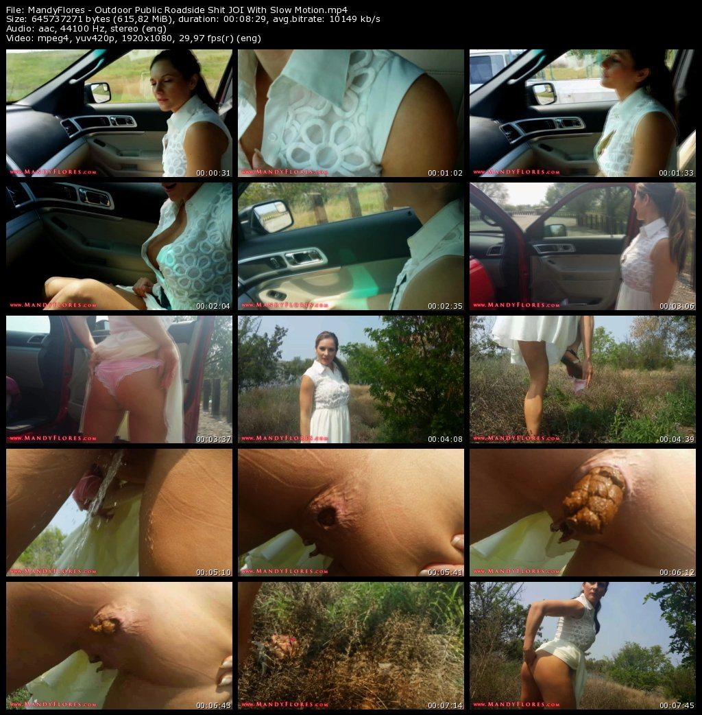 MandyFlores - Outdoor Public Roadside Shit JOI With Slow Motion (takefile.link, pov, piss, shit)