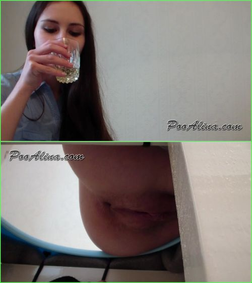 PooAlina - Alina Eats Strawberries And Pooping In Mouth Toilet Slave - Russian Scat