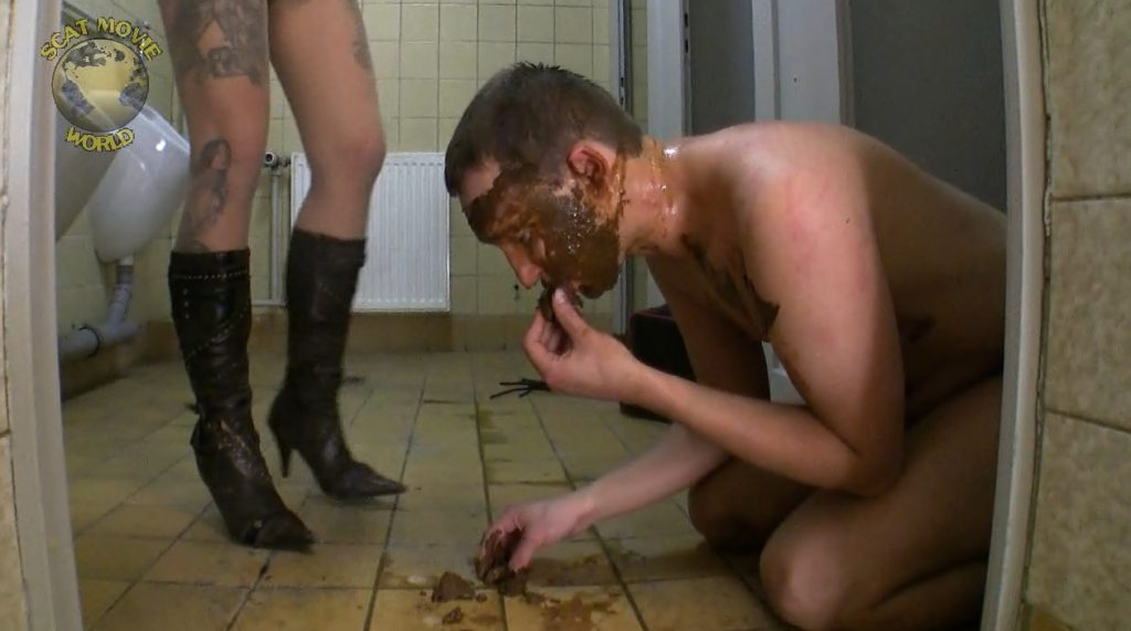 The slave dog was raped in the toilet - 5