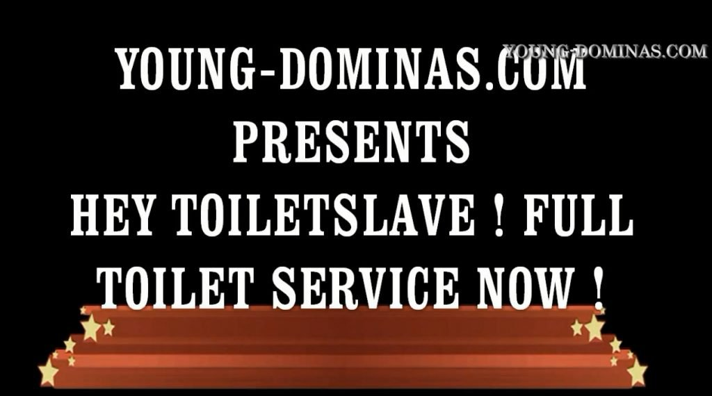 YOUNG DOMINAS.COM - HEY TOILET SLAVE! FULL TOILET SERVICE NOW! (FATIMA) screen 4
