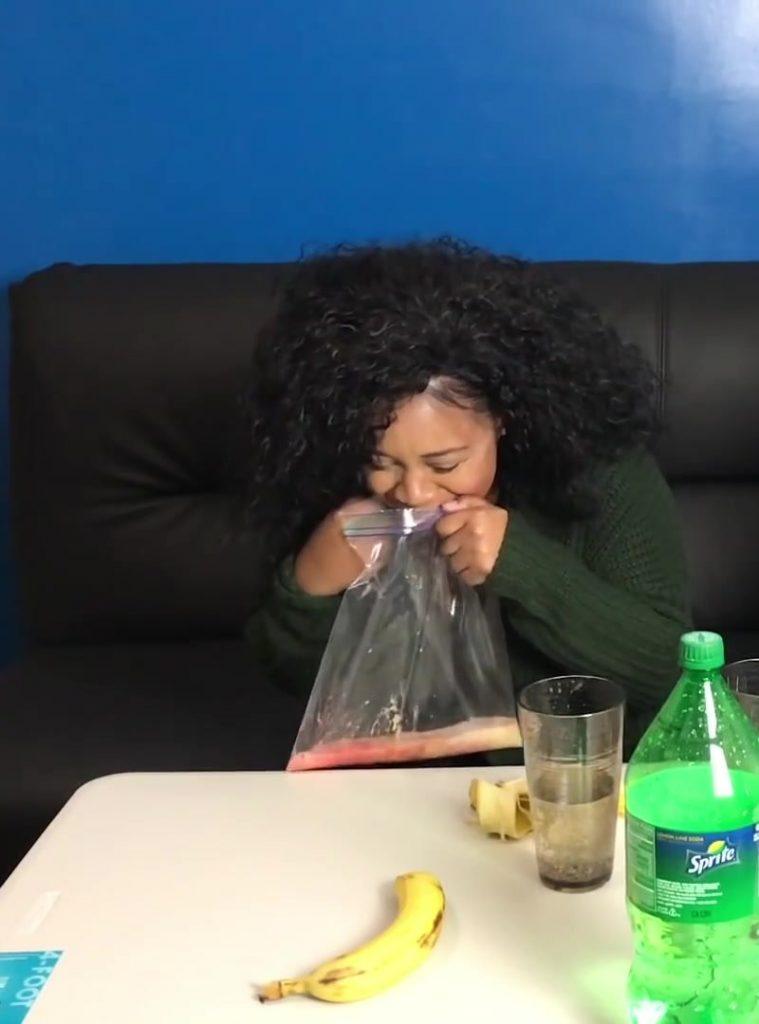 Banana Sprite Challenge - Girlfriend Vomits Crazy ! GROSS (FullHD-1080p)