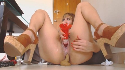 MessyPaula - Dirty Pussy (Double Dildo Penetration, Pooping) Picture 2