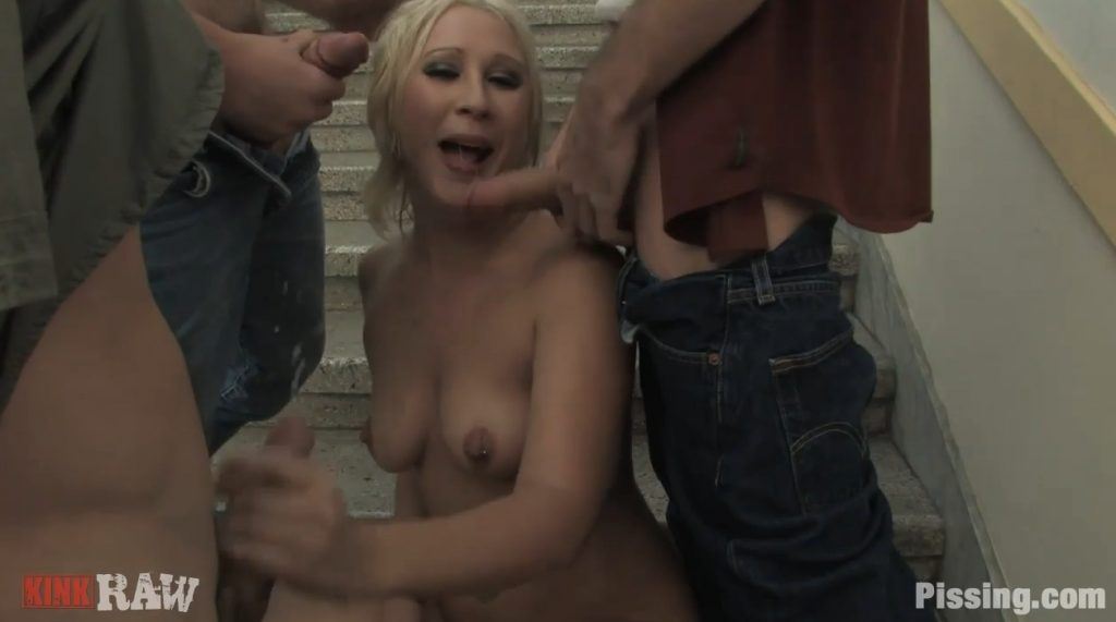 Gang-Bang and Pissing on Stairs [pissing.com] img 3