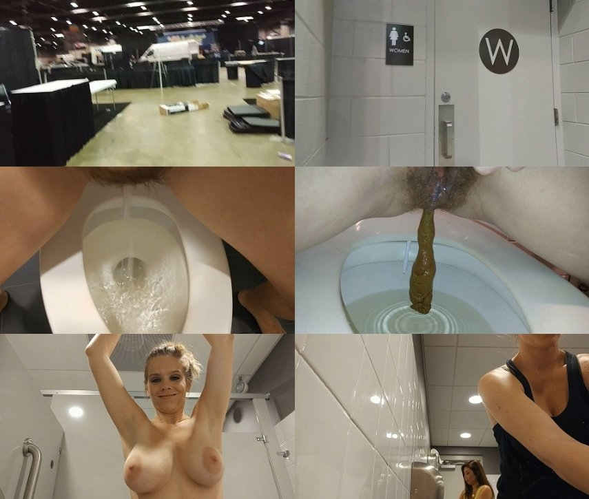 CandieCane - Public Porn Convention Pee and Surprise Poop