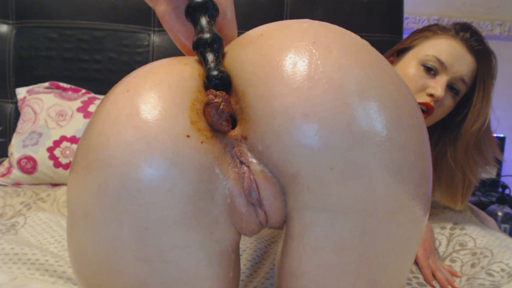 Dirty Anal with black toy - Dirty Lena (FULL-HD) - Free Extreme Scat