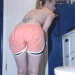 cosmic girl summer – giant poo in my pink nike tempo gym shorts! (1080p)