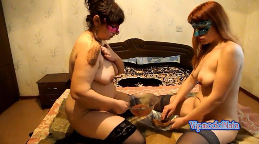 Lesbians smeared shit (ModelNatalya94) Image 2