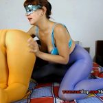 Liquid diarrhea in colored pantyhose (ModelNatalya94)