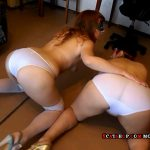 Two dirty ass in white shorts (ModelNatalya94)