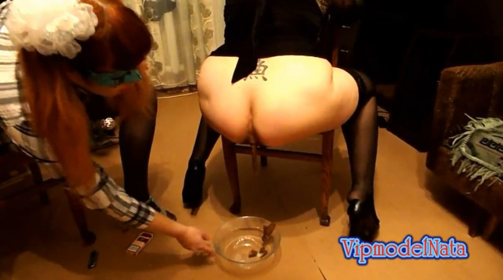 Yana and Olga taking a shit in the transparent plate (ModelNatalya94) Image 2