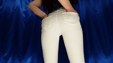 White Jeans (5 of April 2018 - Newest Scat Video from Anna Coprofield)