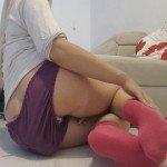 Goddess pink socks messy (Thefartbabes)
