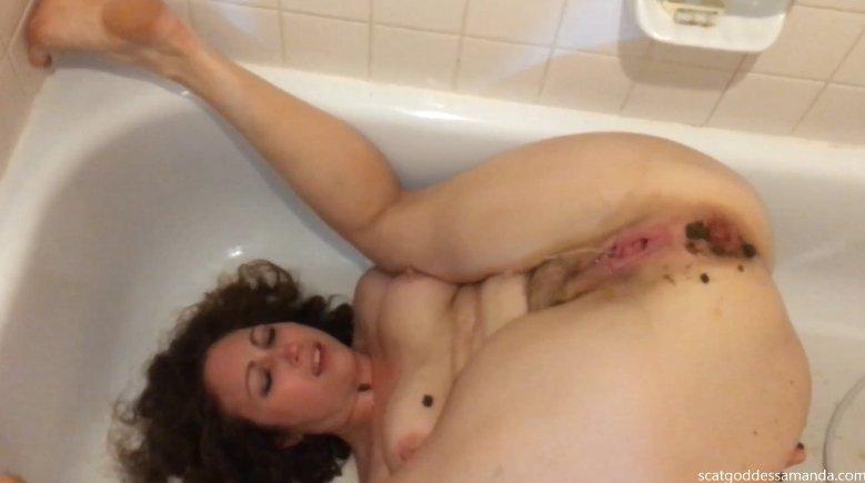 Bathtub enema scat play by Scat Goddess Amanda (Full HD 1080p) Image 2
