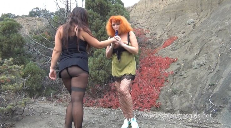 LesbianScatGirls.net - Nadia and her girlfriend try pooping outdoors (MILFS Scat - HD 720p) Image 1