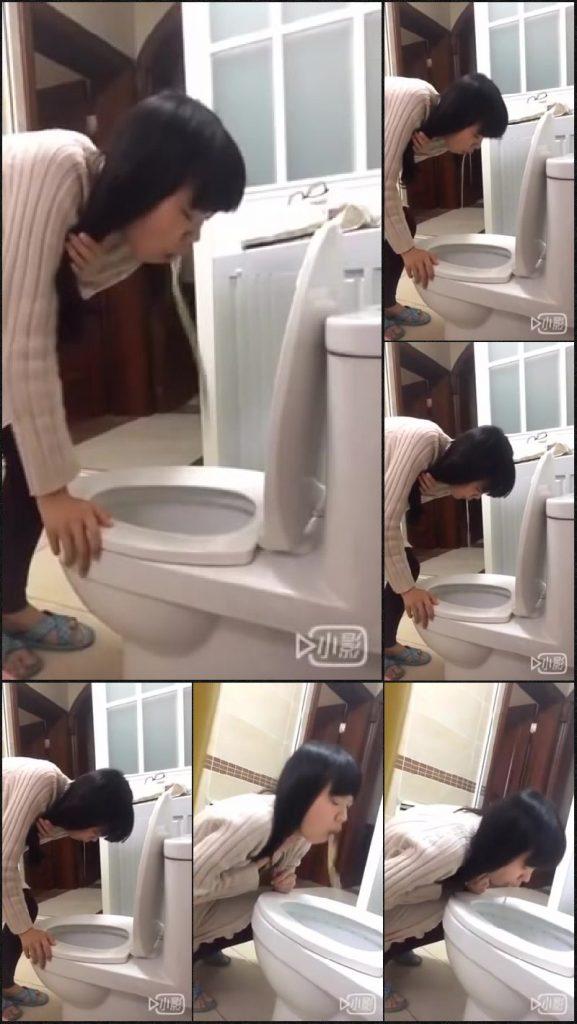 Chinese girl puking