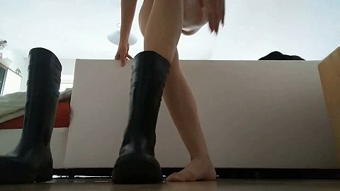 Shit in rubber boots (KV-GIRL) 30 of May 2018 - Image 2