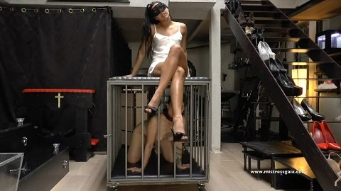 Meal is served (Mistress Gaia) Italian girl on girl scat domination - Image 2