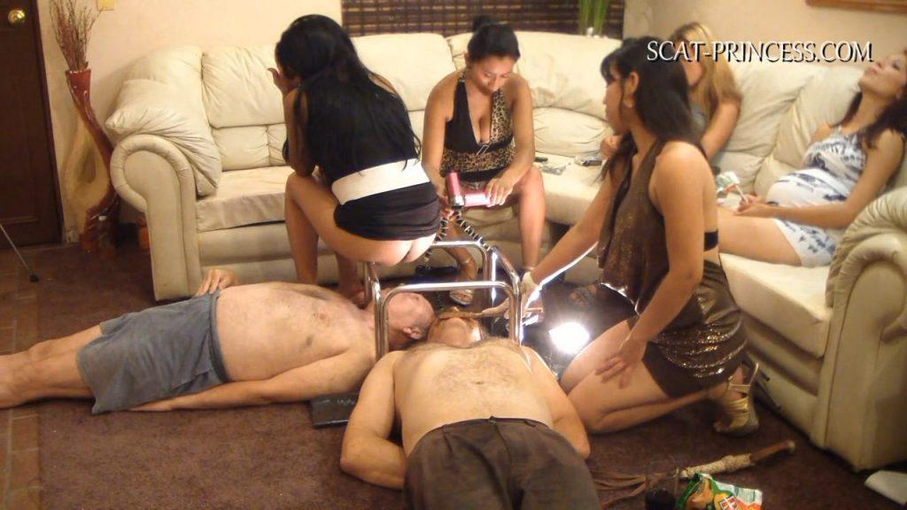 Toilet Slaves Under the Pooping Table (Adison, Gabi, Merica, Valery, Nataly) 3,65 Gb in HD 720p
