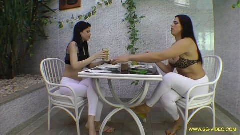 Scat Domination White Scat Pants - 2 Domina 1 Slave (SG-video.com) FHD