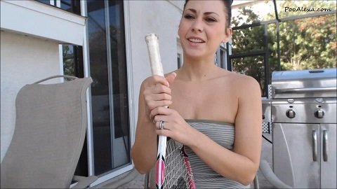 Poo Alexa - White Cotton Panty Filling (FullHD / 824 Mb)